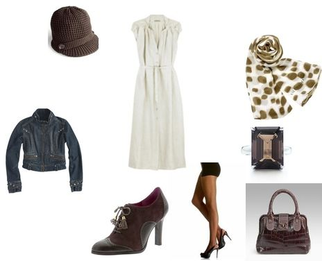 Cloche and scarf outfit