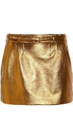 Gucci metallic leather mini?  Why not?!