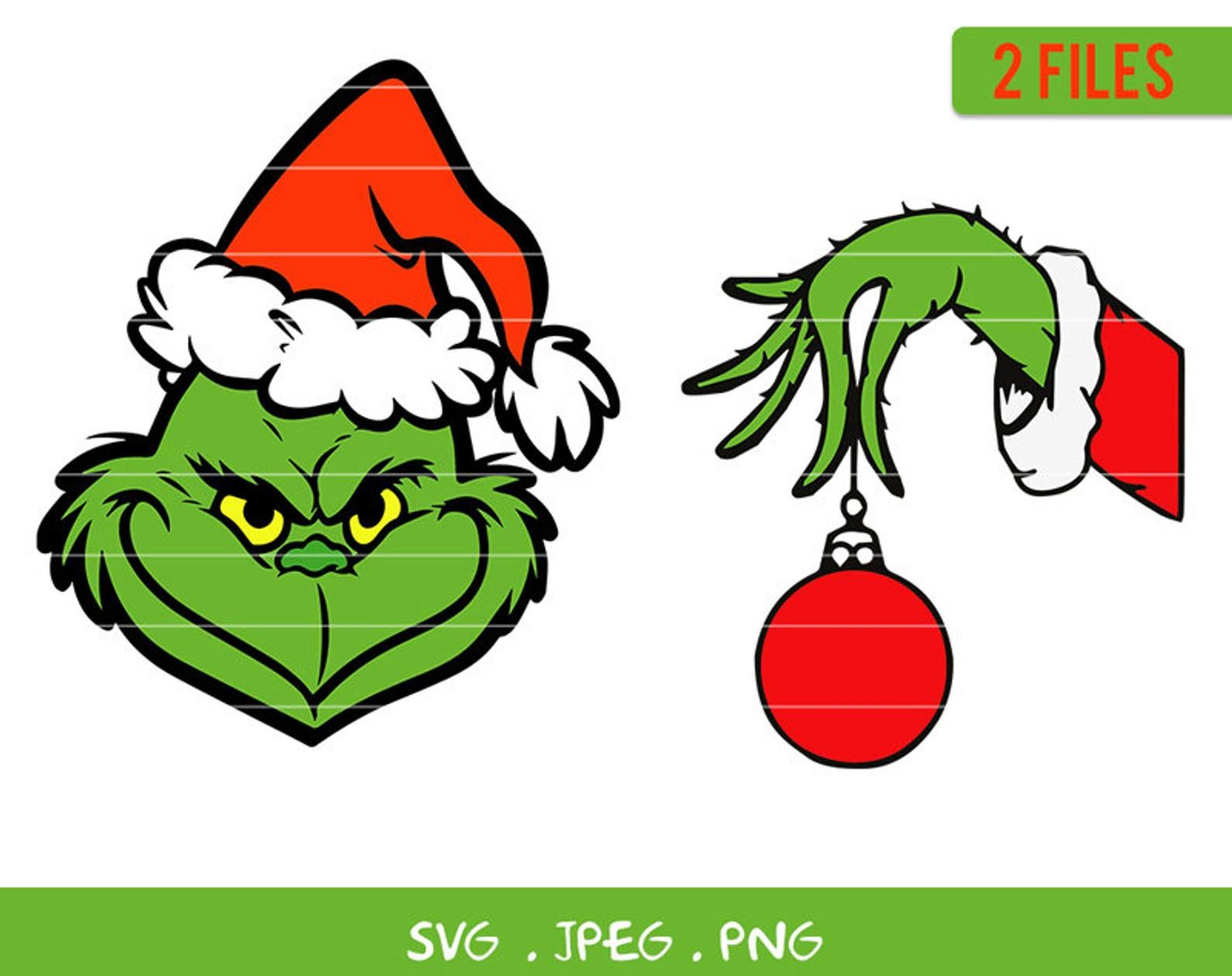 Christmas Grinch Face Svg Bundle Grinch Hand Christmas Etsy Grinch Face Svg Grinch Hands Grinch Christmas Decorations