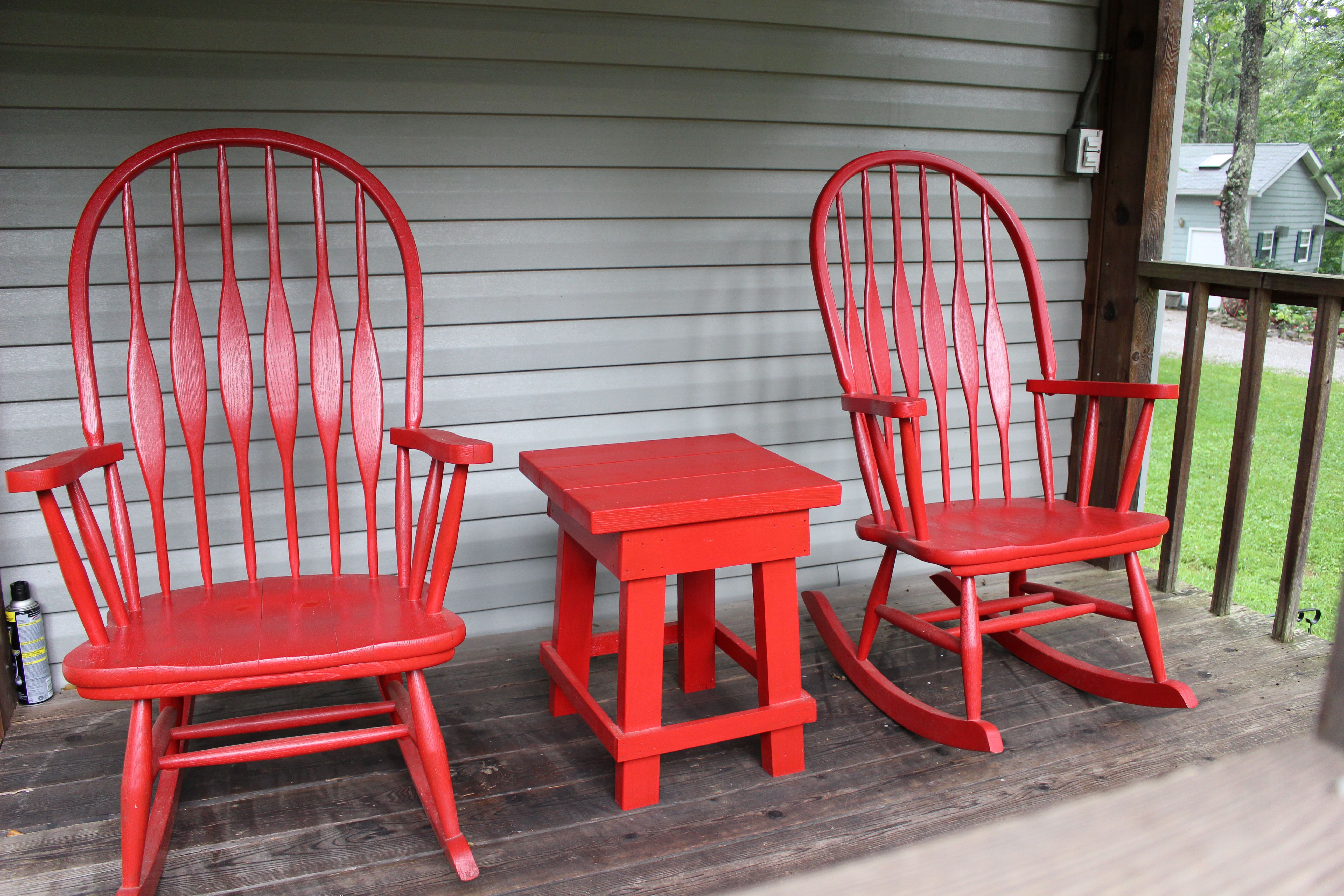 Red Rocking Chairs On Front Porch Red Rocking Chair Porch Furniture Red Barns