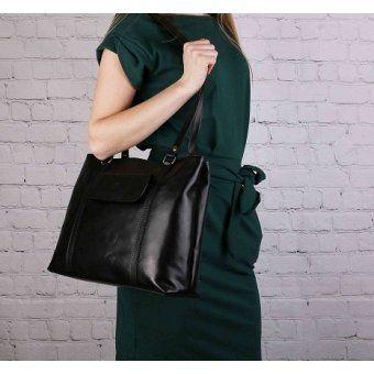 1876e08fd5bf Čierne kožené kabelky pracovné Vera Pelle Talianske Madona