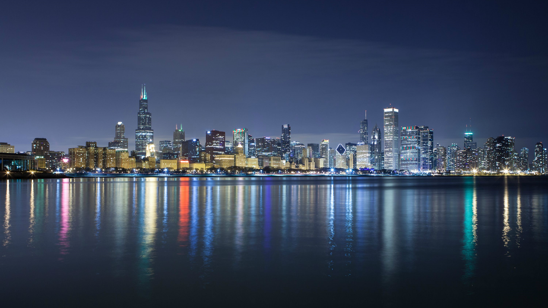 Chicago Skyline Wallpaper Download Free HD Wallpapers