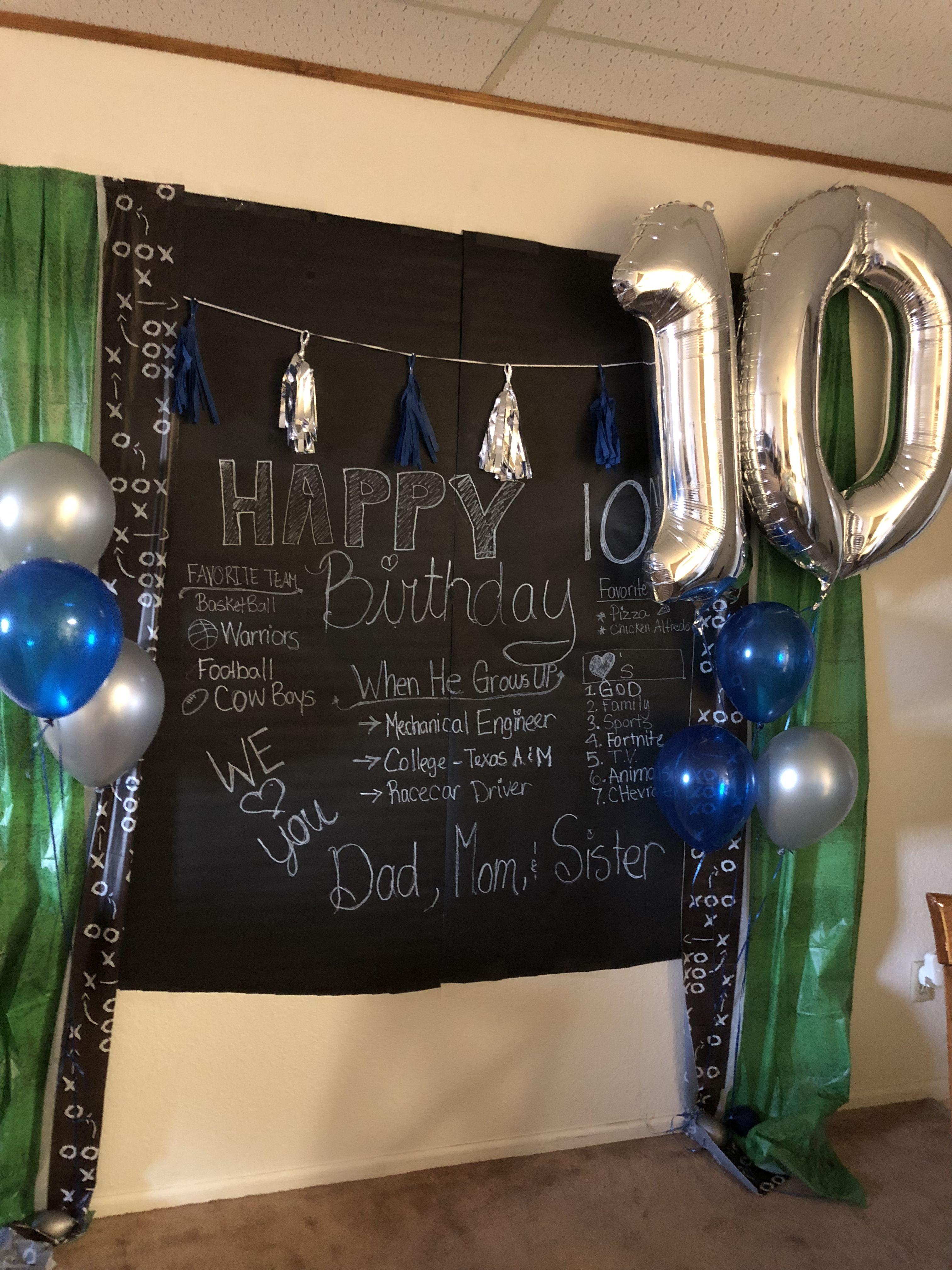 10th Birthday Boy Backdrop 10th Birthday Parties Boys Birthday Party Games Birthday Traditions