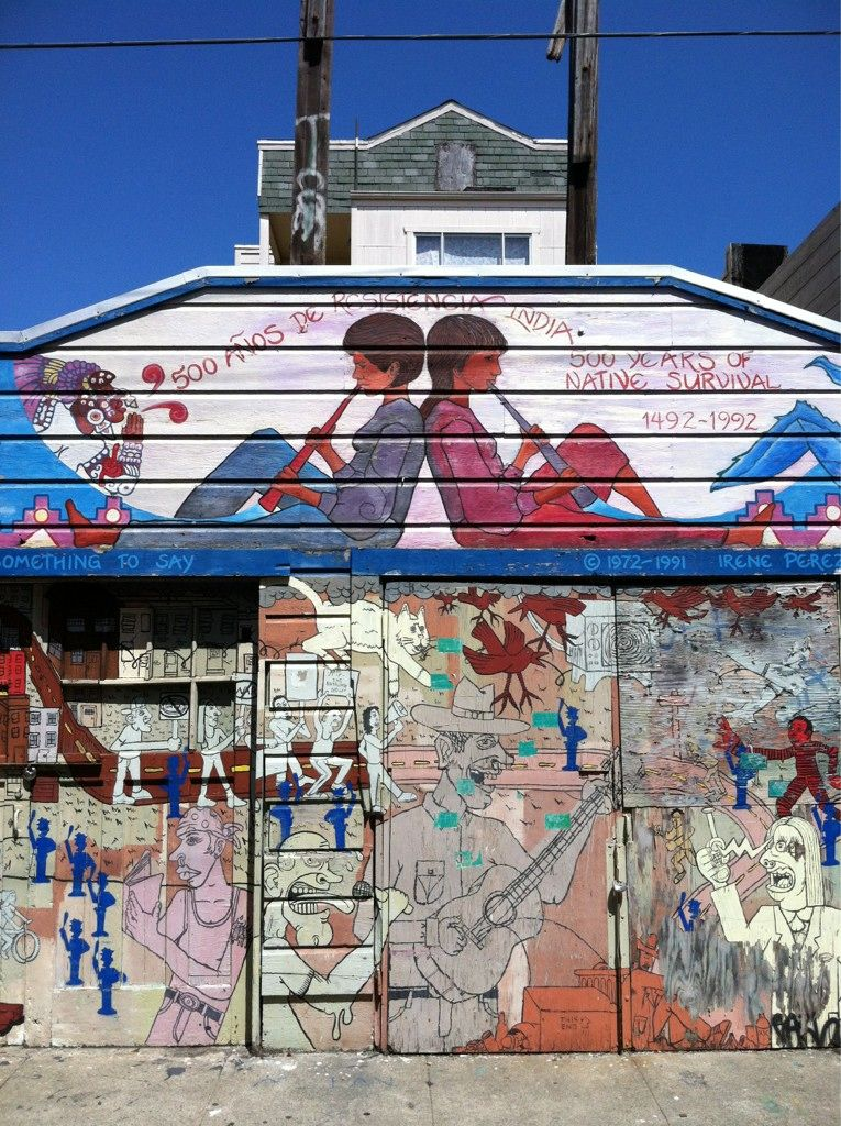 Twitter / MadeSays: Admiring the #murals of San Francisco's Inner Mission District #murals #mission #sanfrancisco #history #culture #roots