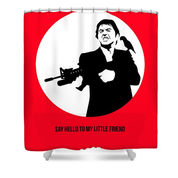 Scarface Poster 2 Shower Curtain Scarface Scarface Poster