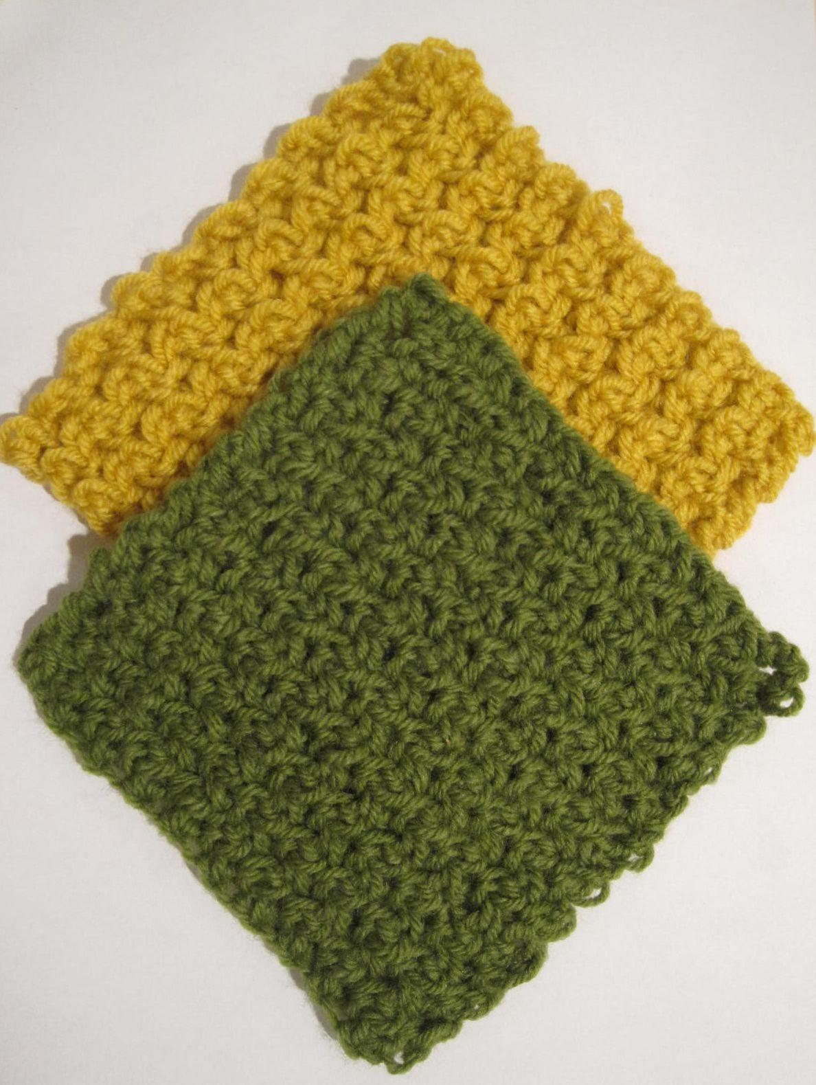 Easy Textured Washcloth   Crochet   Pinterest   Bären