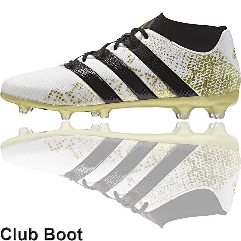 white and gold adidas football boots