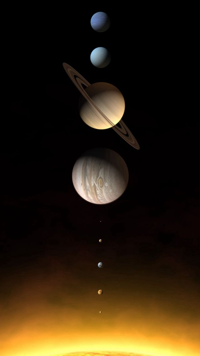 Realistic Solar System Planets iPhone 5s Wallpaper ...