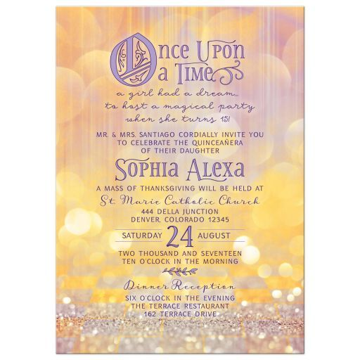 Quinceañera Invitation Magical Ballroom Once Upon A Time