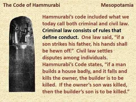 Hammurabi S Code Was Designed To