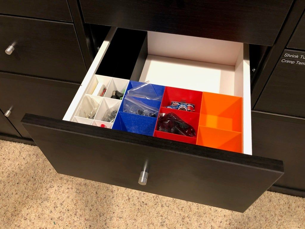 Ikea Kallax Drawer Inserts by iteafreely Thingiverse in