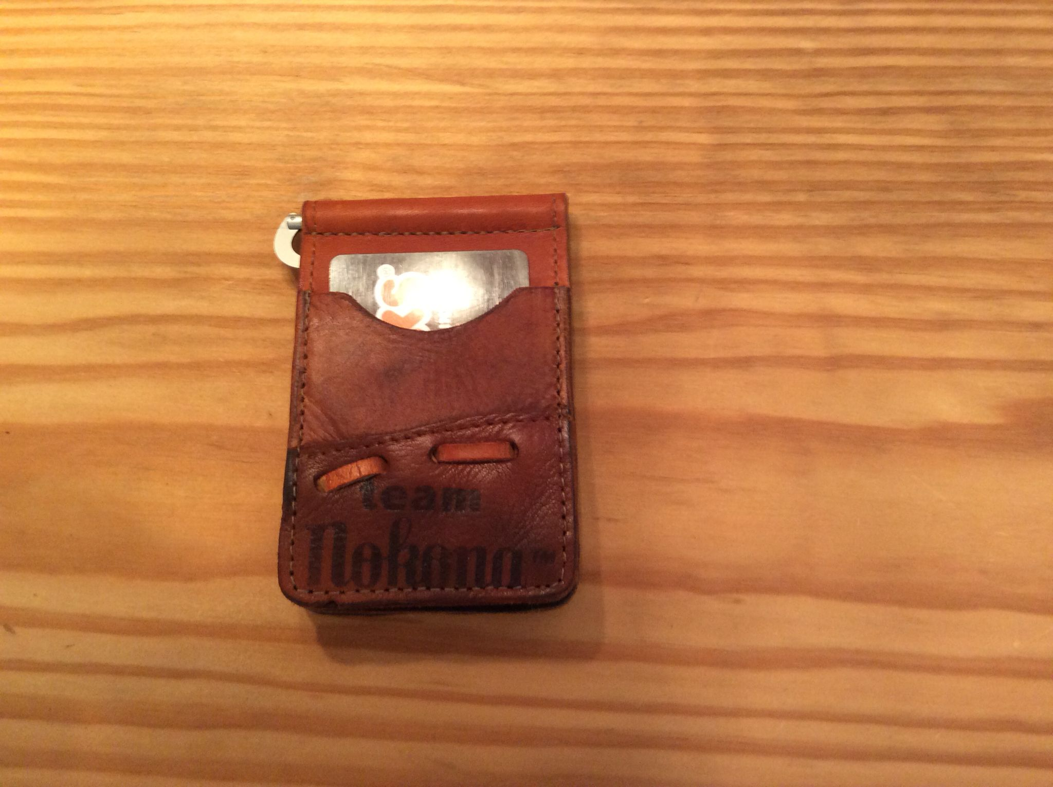 Recycled baseball glove wallet - Vintage Nokona Baseball Glove Wallet Will Hold Credit Cards In Sleeves On Outside Of Wallet
