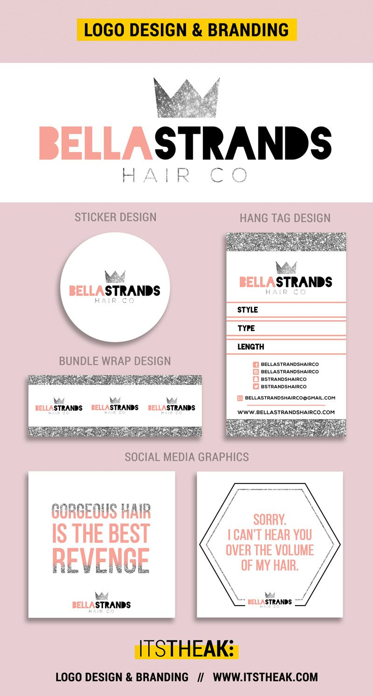 Premade Logos Hair Logo Tag Design Logo Design Template