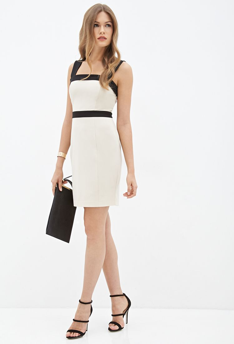 Colorblocked Sheath Dress Forever21 2000058680 Me Pinterest