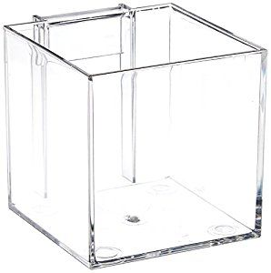 Azar Displays 256105 4-Inch Acrylic Cube Bin for Pegboard or Slatwall, Pack of 4 - - Amazon.com