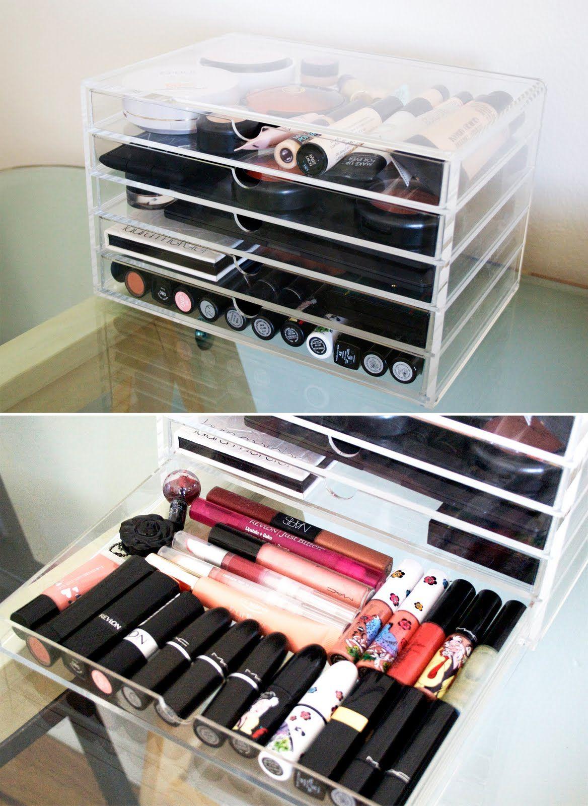 Muji Makeup Organizer Stunning Muji Acrylic 5 Drawer Case $28 Httpwwwmujistorestorage Design Inspiration