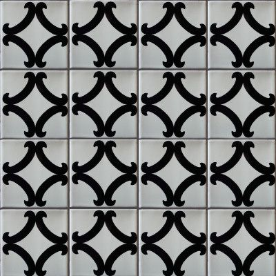 This Is An Example Of Graphic Tile We Could Use On The Back Splash - Black and white talavera tile