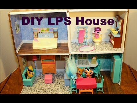 How To Make A Littlest Pet Shop Doll House Diy Htm Easy Step By Step Tutorial Lps Crafts Diy Dollhouse Little Pet Shop