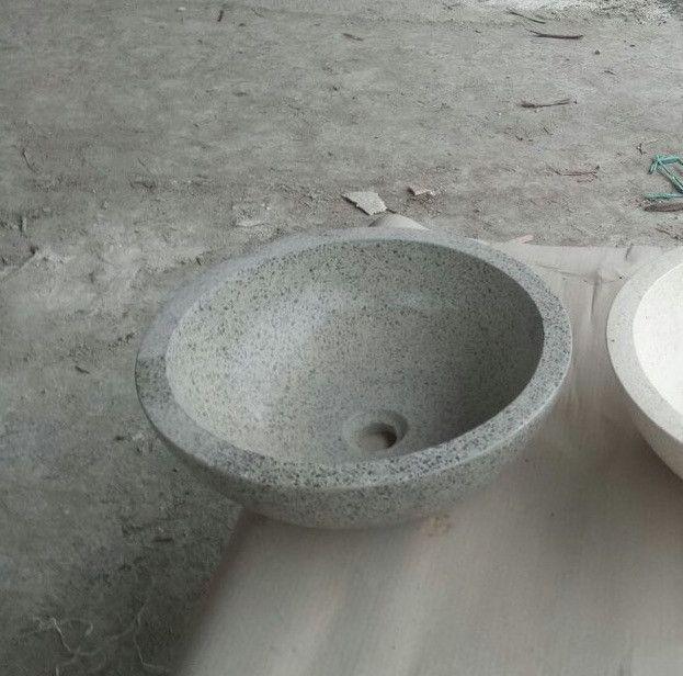Waschbecken Aufsatzbecken Waschschale Terrazzo Steinwaschbecken