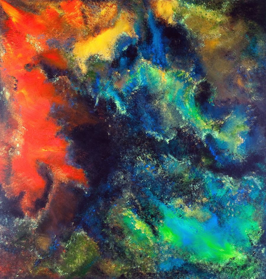 acrylic on canvas-  cavernous exploration     sold