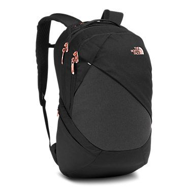 afa7153965 The North Face Women s Isabella Backpack TNF Black Heather Rose Gold Bag
