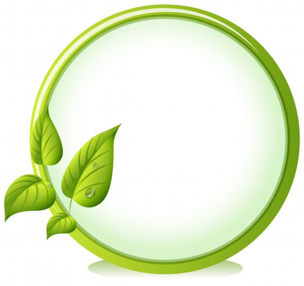 Download A Round Border With Four Green Leaves For Free Zelenye Fony Zelenyj Logotip Bumazhnye Ramki