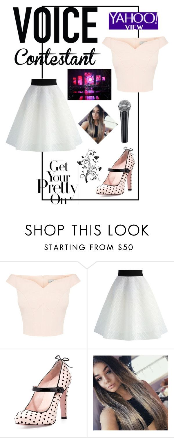 """""""❤"""" by evelynn-cole on Polyvore featuring Chicwish, RED Valentino, thevoice and YahooView"""