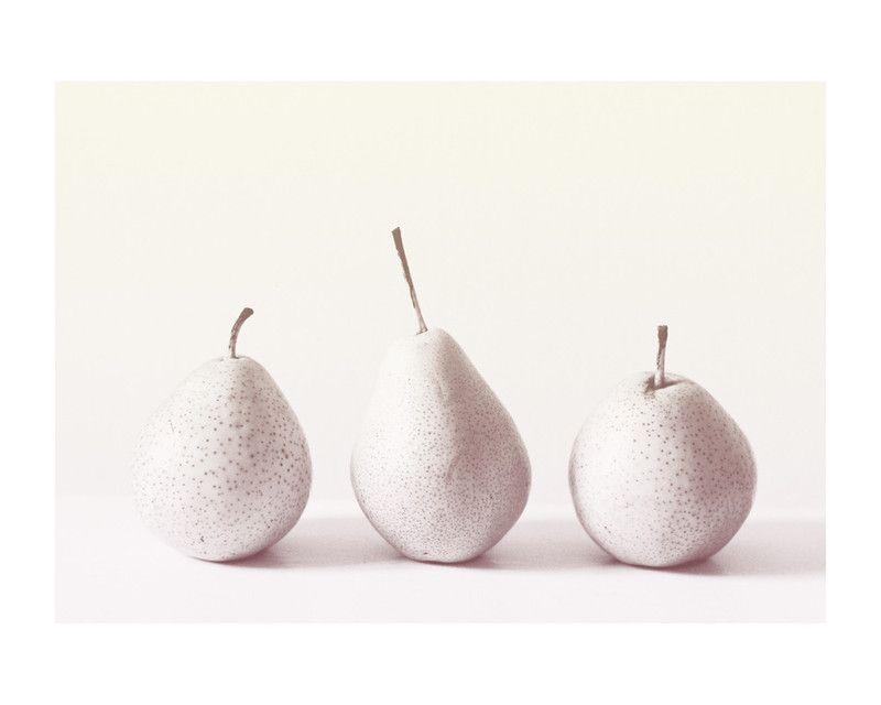 Three Little Pears Wall Art Prints by Ashley Flynn | Minted