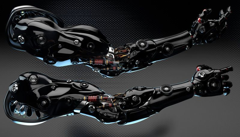 Android Robot Arm Design Scifi Robots Character