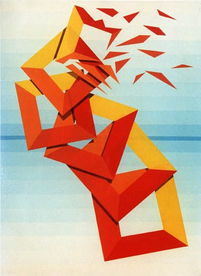 Mujer mirando al sudeste, Acrílico sobre tela / Acrylic on canvas, 80 x 60 cm / 31,5 x 24 in, Serie Expansión Cristalina, 1997, by Carlos Presto