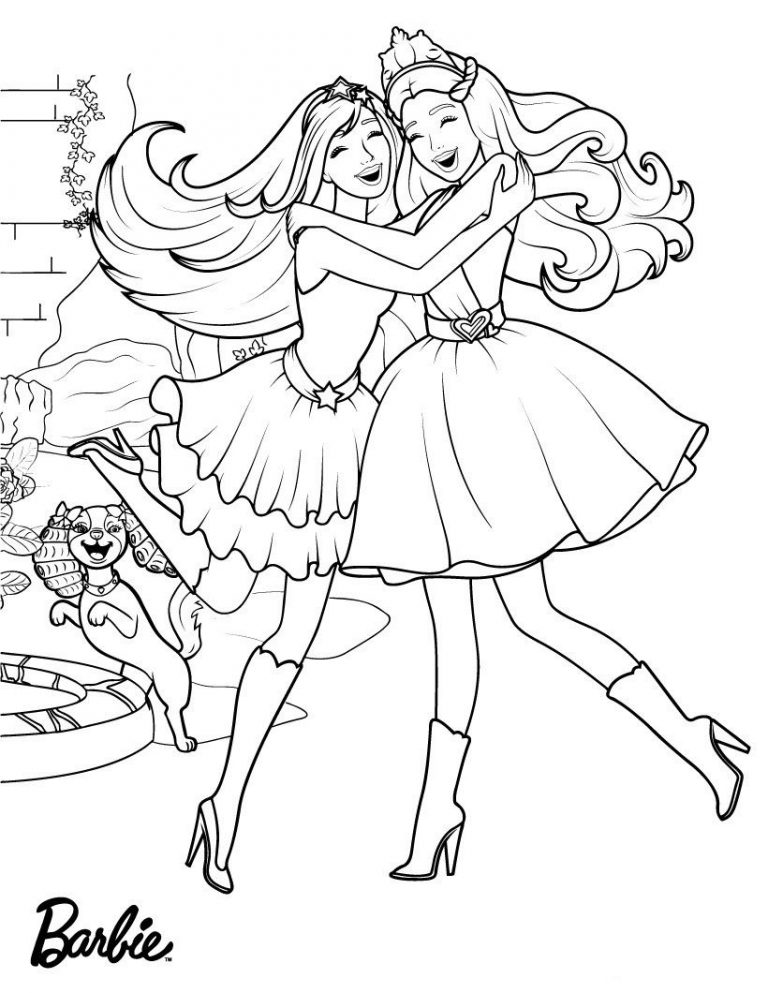 - 9 Best] Free Coloring Pages Barbie Princess