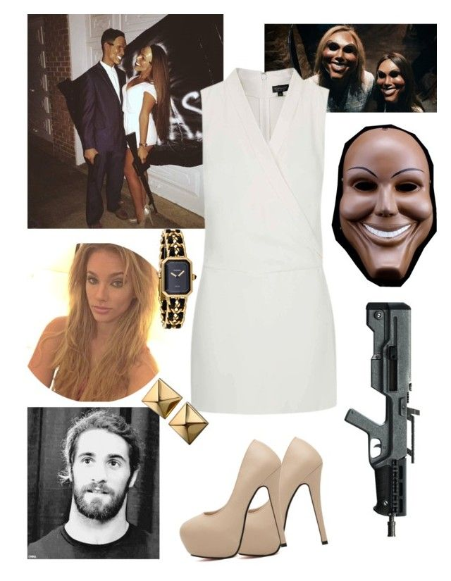 """Izzy and Seth's halloween costumes ♡"" by swaggwweforever ❤ liked on Polyvore featuring Topshop, Chanel and Waterford"