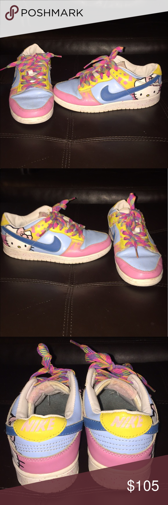 wholesale dealer 22c51 dfa2c Authentic RARE Hello Kitty Nike Air Force 1s Sz 8 RARE Hello Kitty Air  Force 1s by Nike in girls 5.5 which is like a 7-7.5 in womens Nike Shoes  Sneakers