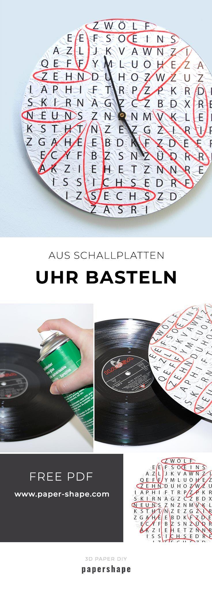 Uhr Basteln Aus Alten Schallplatten Mit Ratselhafter Zeit Upcycling