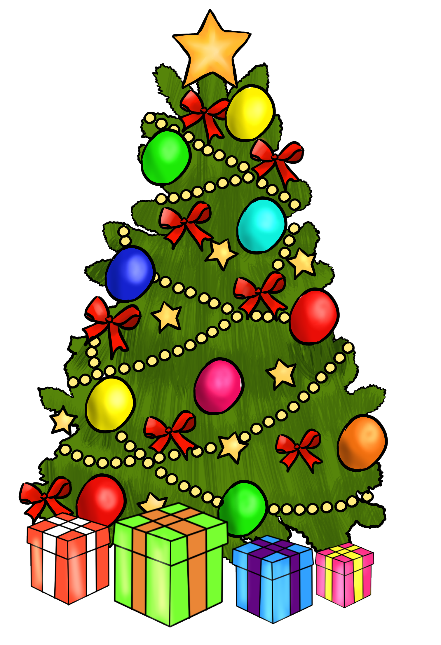 This cute Christmas wreath clip art is perfect for use on your ...