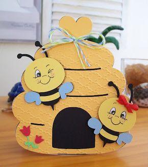 Bienenstock Basteln Frühling Kindergarten Bienen Basteln