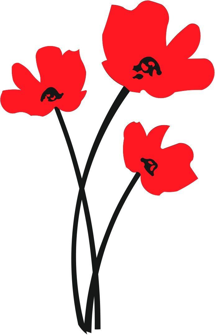 Poppy Svg : poppy, Simple, Flower, Silhouette,, Poppies,, Flowers