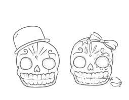 R sultat de recherche d 39 images pour petite tete de mort - Tete de mort facile a dessiner ...