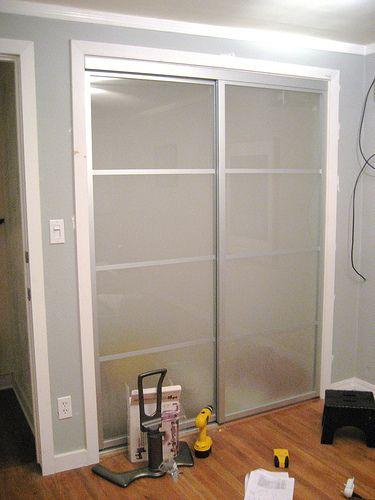 Wonderful Amazing Sliding Closet Door Makeovers