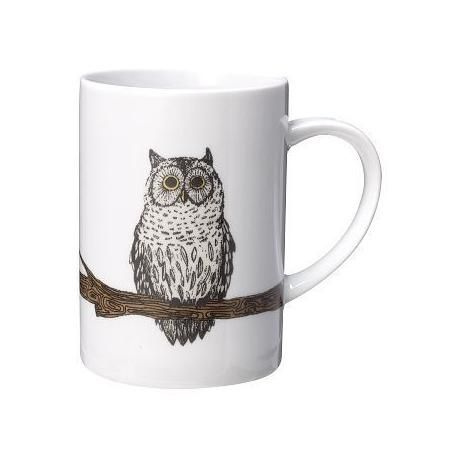 West Elm Owl Decal Mug, Branch Owl