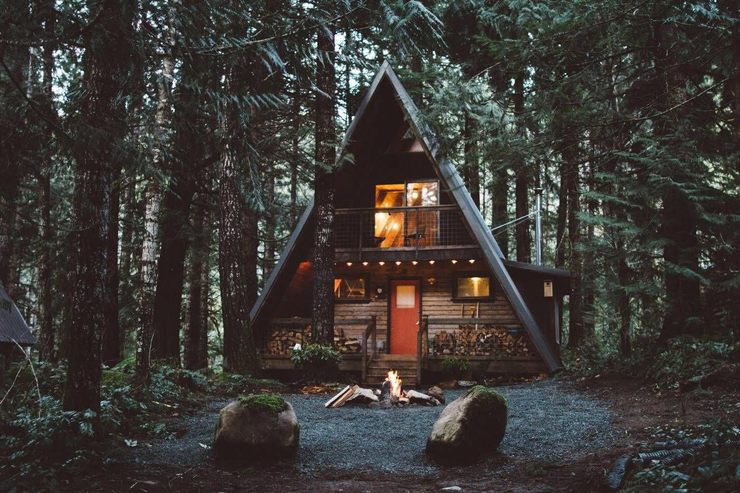 Cabin rental in the forest of packwood washington
