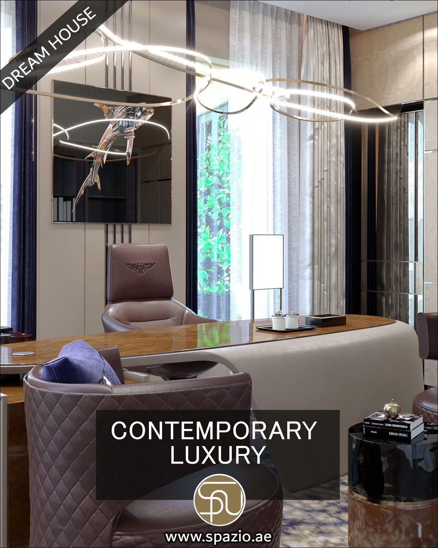 Glorious villa home office interior design by Spazio ...