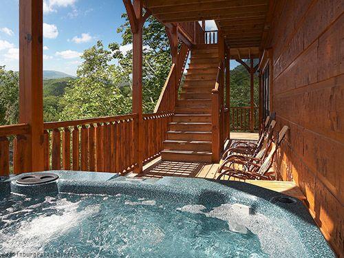 9 Br Gatlinburg Cabin Stairway To Heaven 1 Of 2 Hot Tubs Gatlinburg Cabins Smoky Mountains Cabins Gatlinburg Cabin Rentals