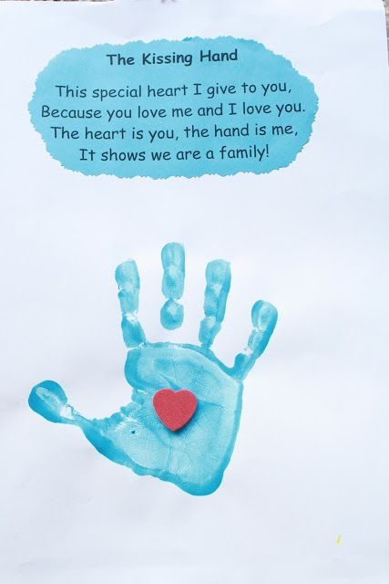 The Kissing Hand Grandparents Day Crafts Fathers Day Crafts Handprint Crafts