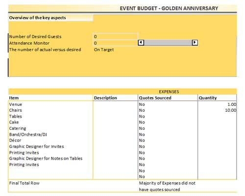 Free Event Budget Template For Excel Calculators Pinterest - event budget template