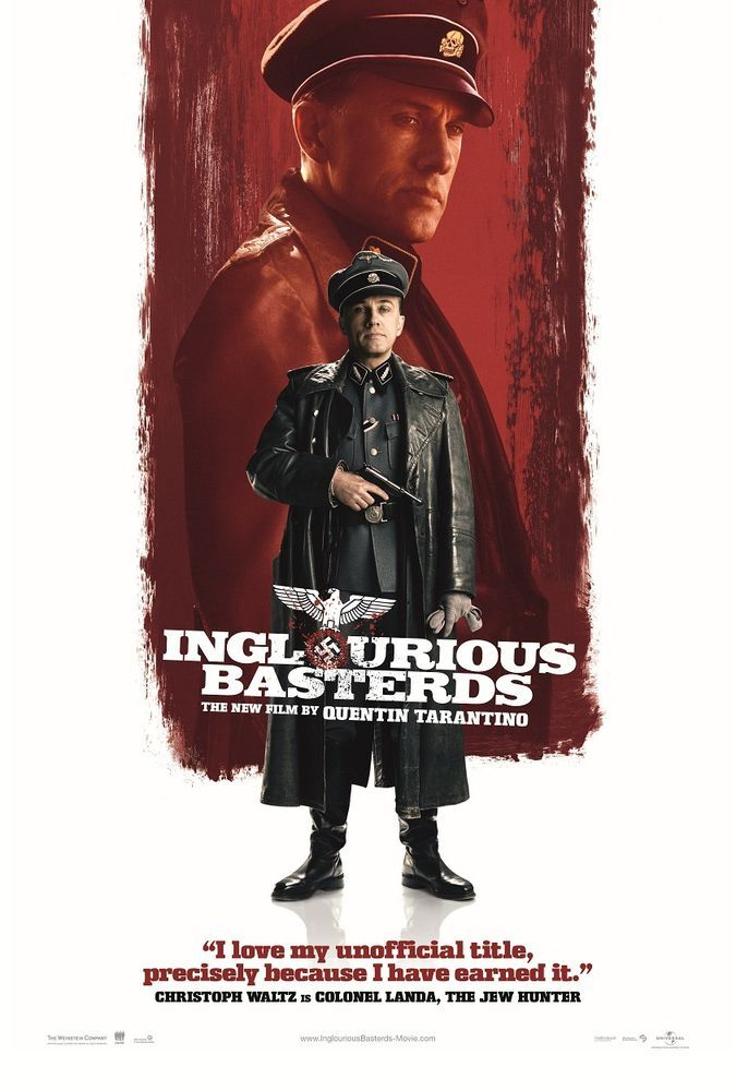 INGLOURIOUS BASTERDS movie poster.