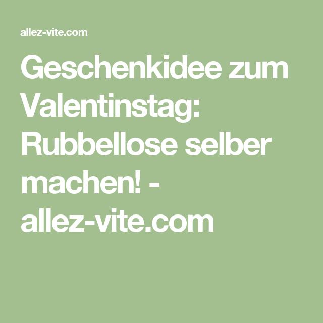 Geschenkidee zum Valentinstag: Rubbellose selber machen! - allez-vite.com