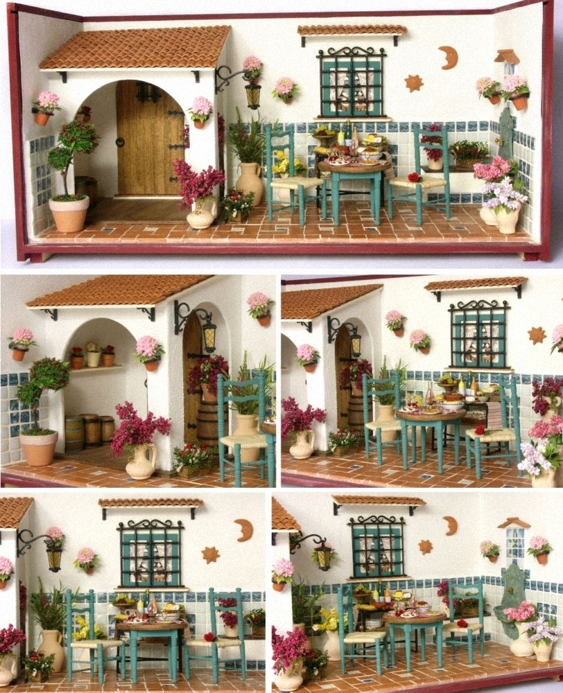 Charming mediterranean diorama miniature taverna 1 12 by dinkyworld on etsy miniaturas - Casas en escena ...