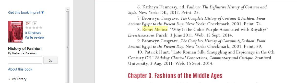 A History Of Fashion By Rebecca Rissman Remy Melina Remy Melina