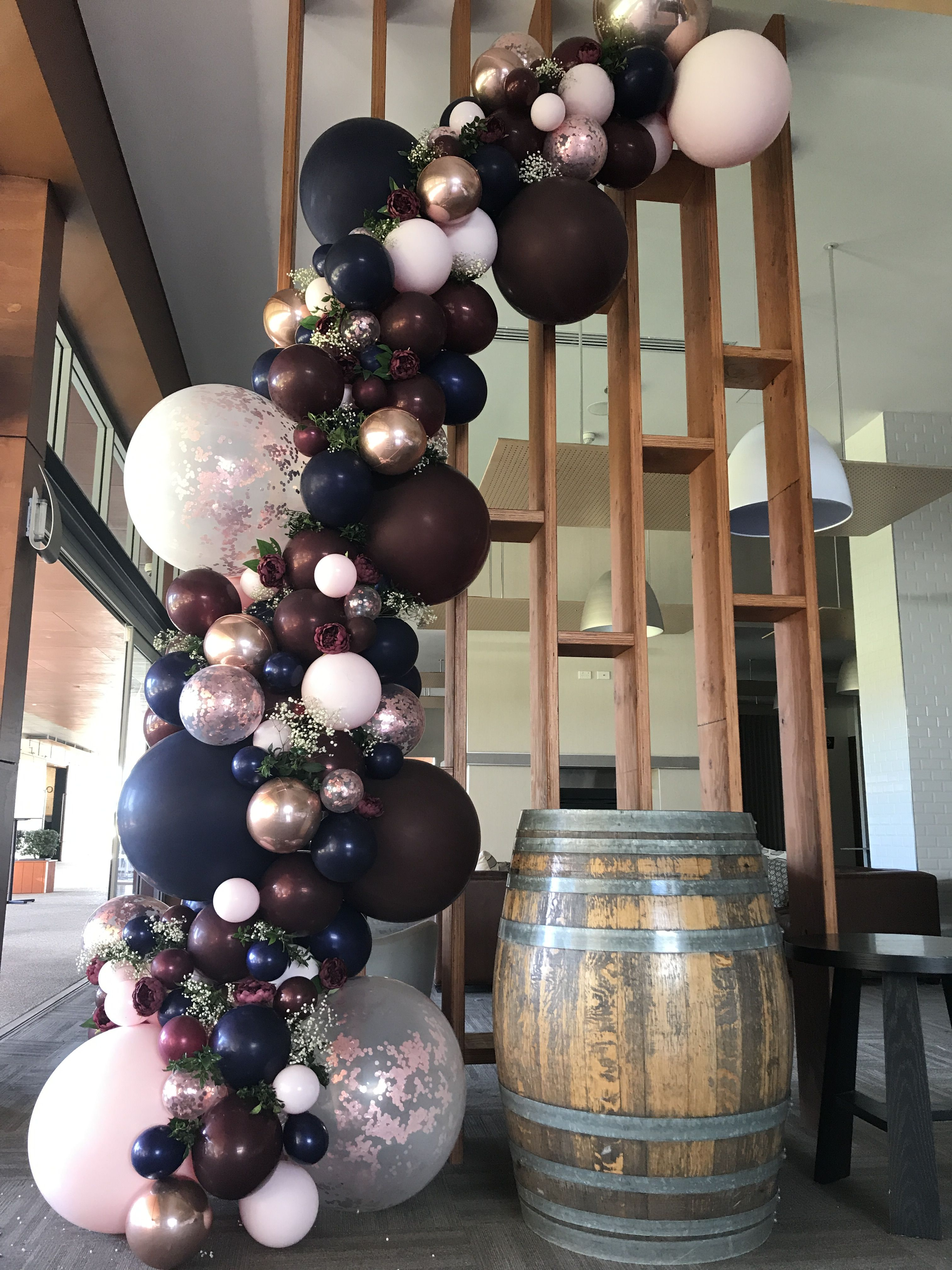 Wedding Burgundy Navy And Rose Gold Balloon Garland Stylish Soirees Perth Navy Wedding Decorations Wedding Balloon Decorations Wedding Balloons